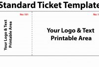Blank Concert Ticket Template  Simple Template Design throughout Blank Admission Ticket Template