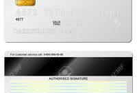 Blank Credit Card Vector Template Front And Back View Royalty Free intended for Credit Card Template For Kids