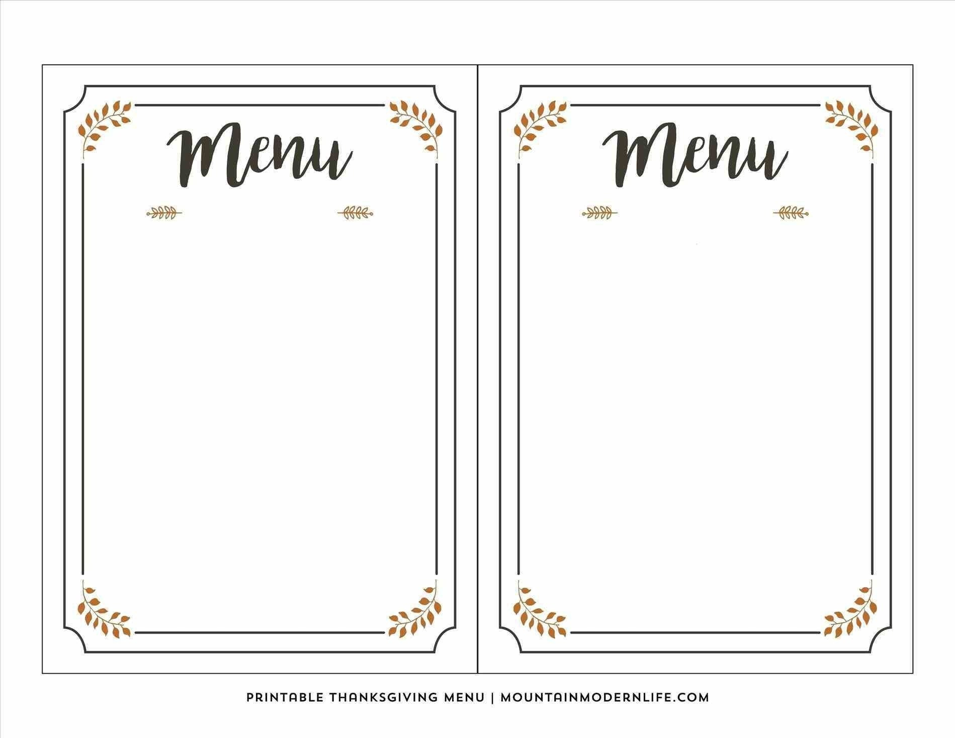 Blank Fancy Menu Template  Chart And Printable World For Fancy Menu Template