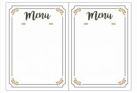 Blank Fancy Menu Template  Chart And Printable World intended for Blank Restaurant Menu Template
