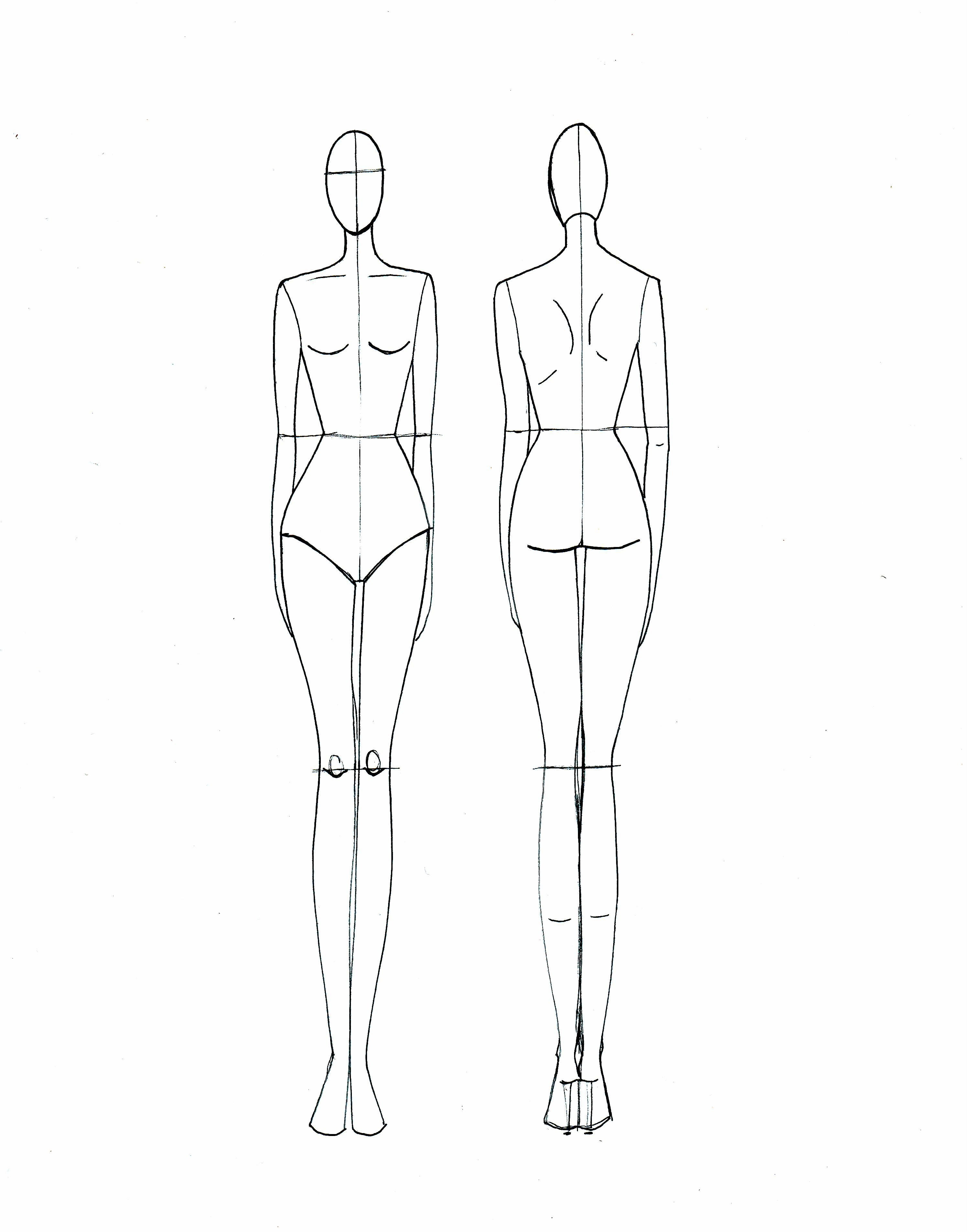 Blank Fashion Design Models  Projects To Try  Fashion Design Within Blank Model Sketch Template
