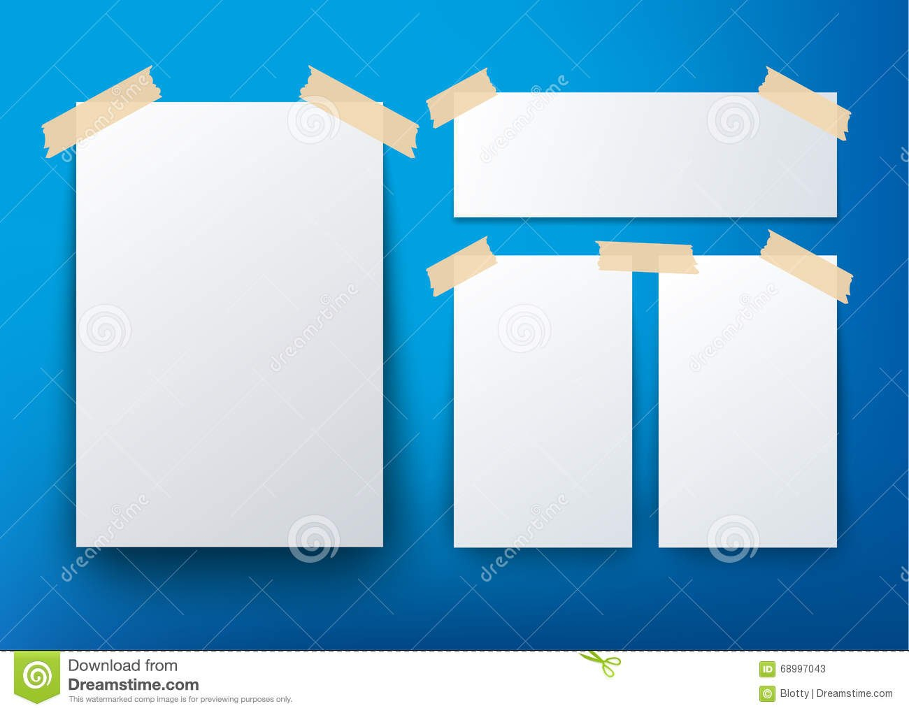 Blank Flyer Template Over Blue Background Stock Vector With Regard To Blank Templates For Flyers