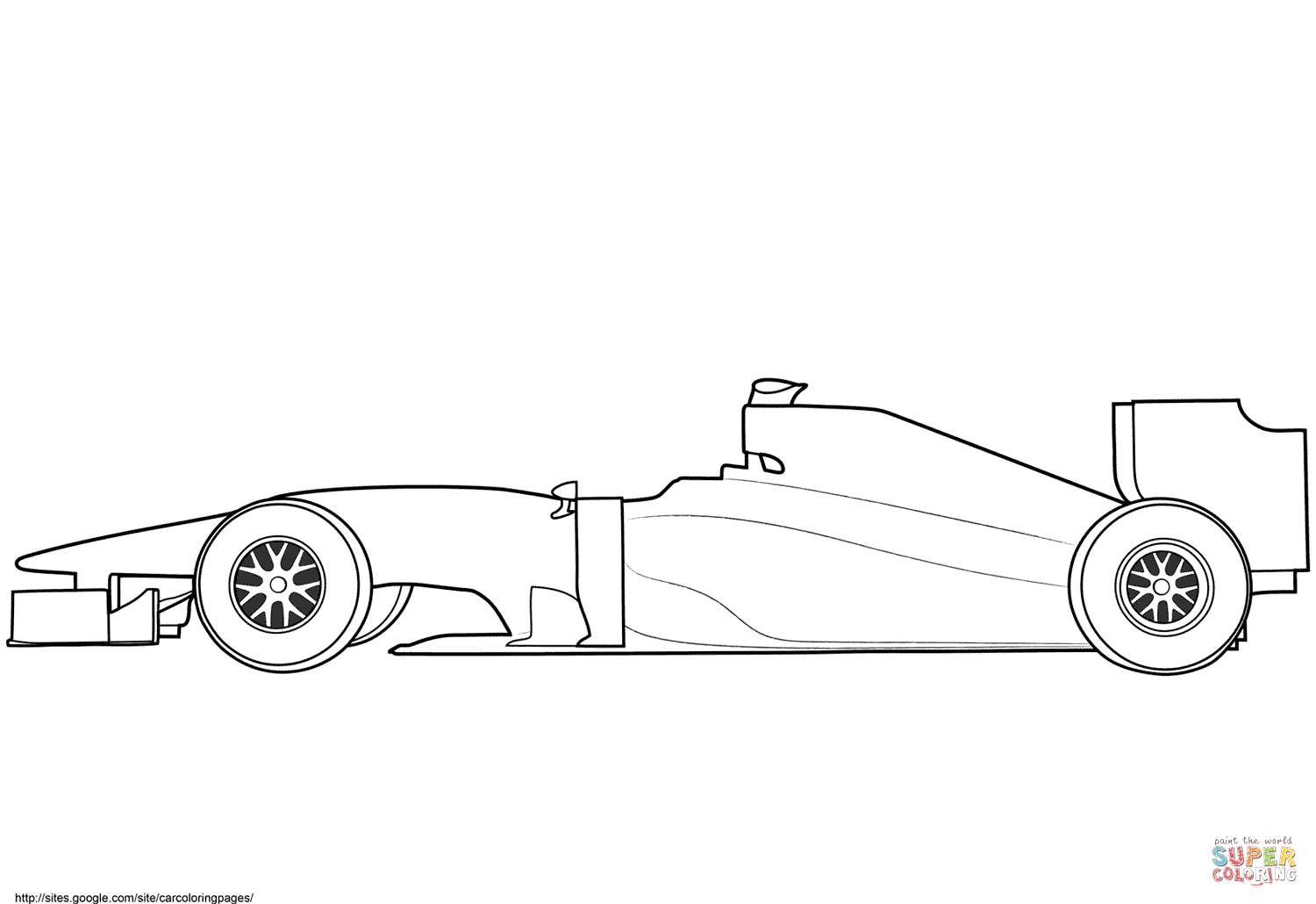 Blank Formula  Race Car Coloring Page  Free Printable Coloring Pages For Blank Race Car Templates