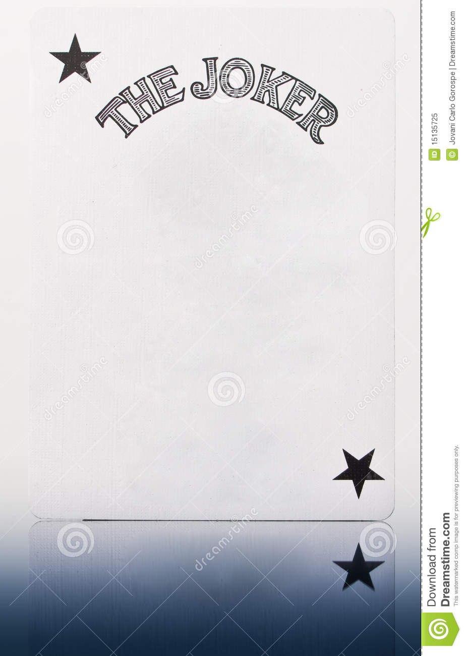 Blank Joker Card Stock Image Image Of Concept Prankster In Joker Card Template
