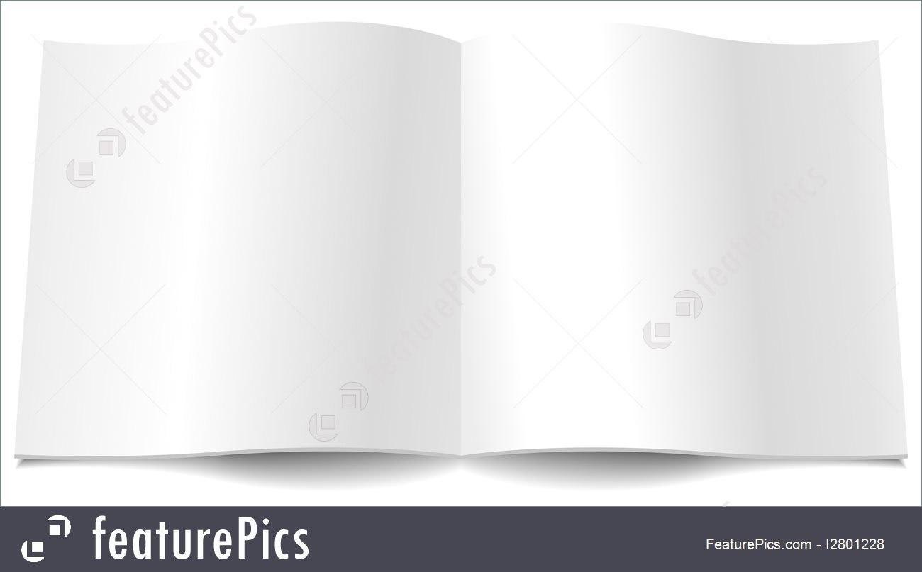 Blank Magazine Spread Illustration Inside Blank Magazine Spread Template