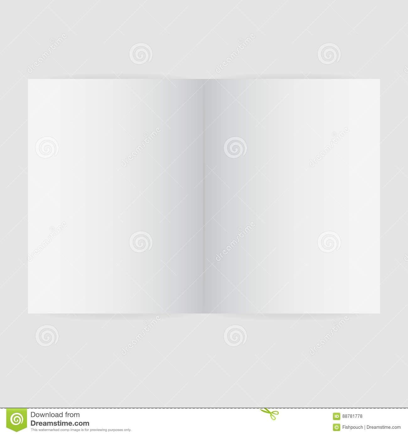 Blank Magazine Spread Template Vector Illustration Illustration For Blank Magazine Spread Template