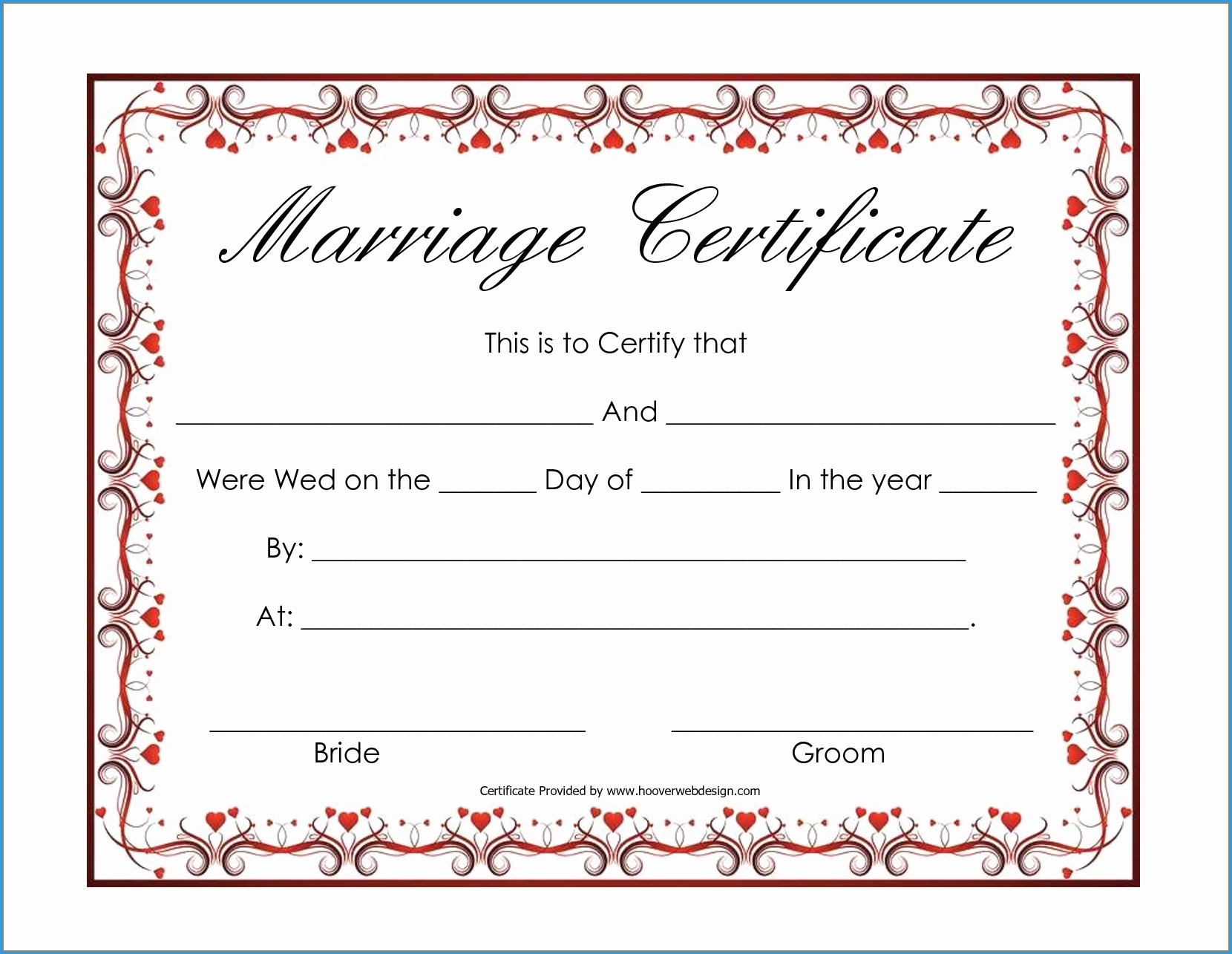 Blank Marriage Certificate Template  Sansurabionetassociats Within Blank Marriage Certificate Template