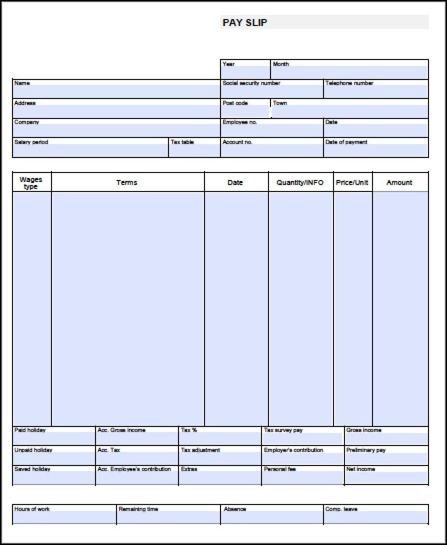 Blank Pay Stub Template Stubs Singular Ideas Free Downloads Pdf Throughout Blank Pay Stubs Template