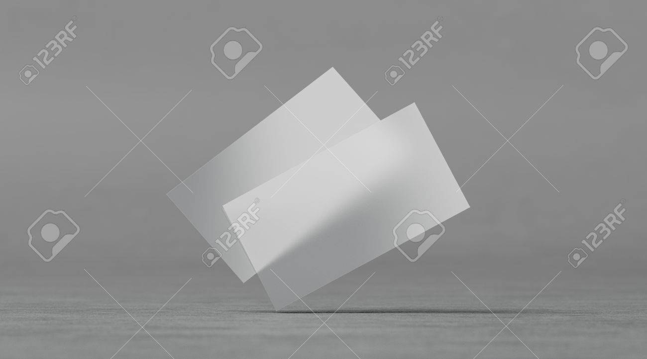 Blank Plastic Transparent Business Cards Mockups D Rendering With Regard To Transparent Business Cards Template