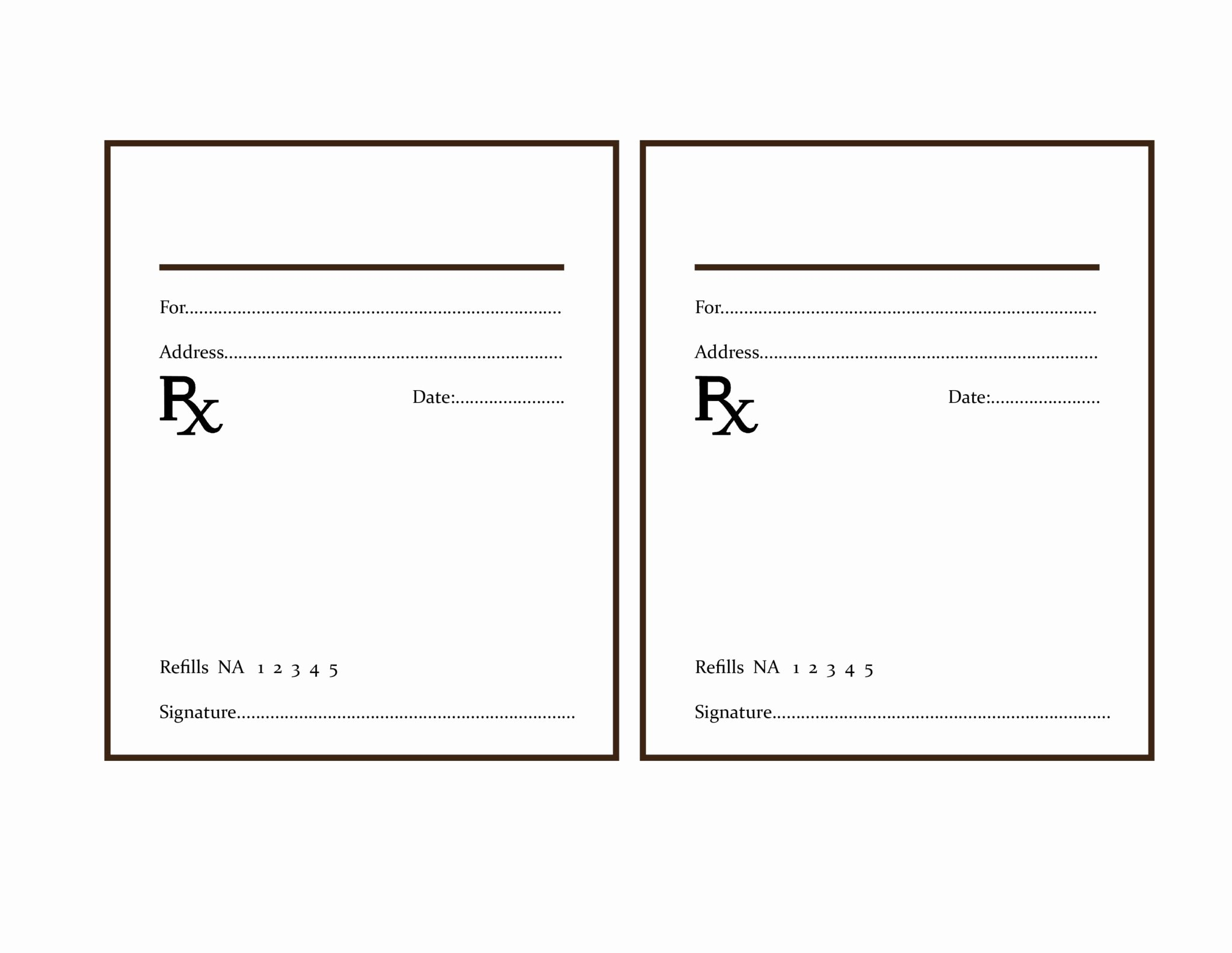 Blank Prescription Pad Template  Wilkesworks Within Blank Prescription Form Template