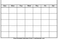 Blank Printable Calendar  Luxe Calendar intended for Blank Calander Template