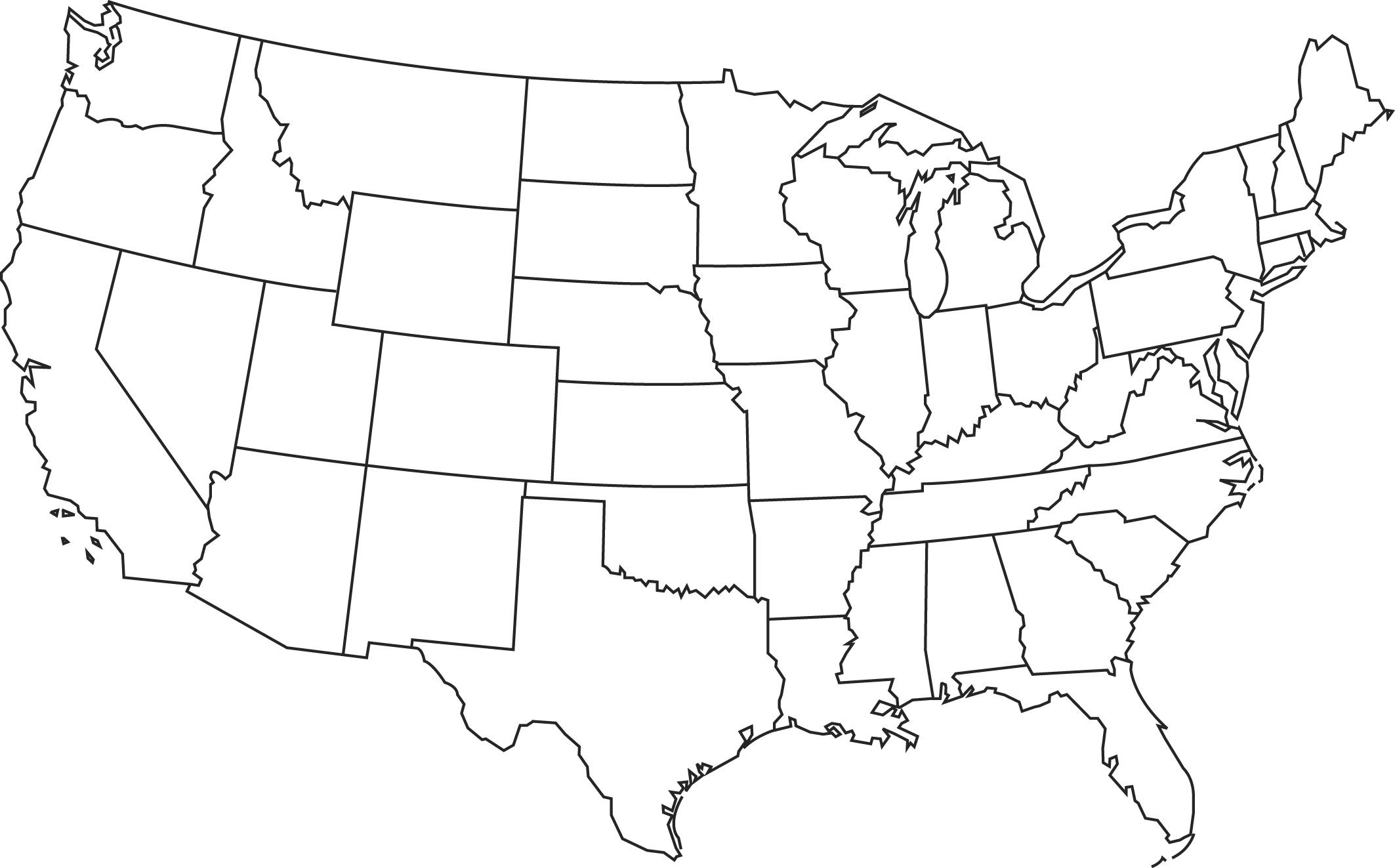 Blank Printable Map Of The Us Clipart Best Clipart Best  Centers For Blank Template Of The United States