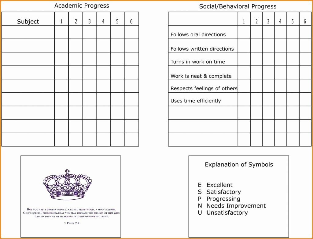 Blank Report Card Template Lovely Blank Report Card Template Regarding Blank Report Card Template