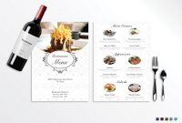 Blank Restaurant Menu Template inside Blank Restaurant Menu Template