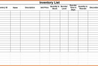 Blank Small Business Inventory Control Checklist Spreadsheet in Small Business Inventory Spreadsheet Template