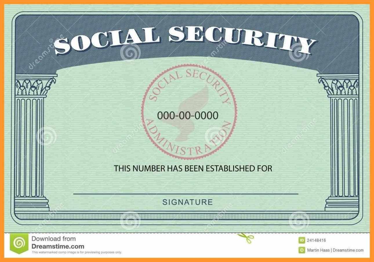 Blank Social Security Card Template  Hardbreakersthemovie For Blank Social Security Card Template