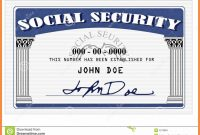Blank Social Security Card Template  Hardbreakersthemovie pertaining to Ssn Card Template