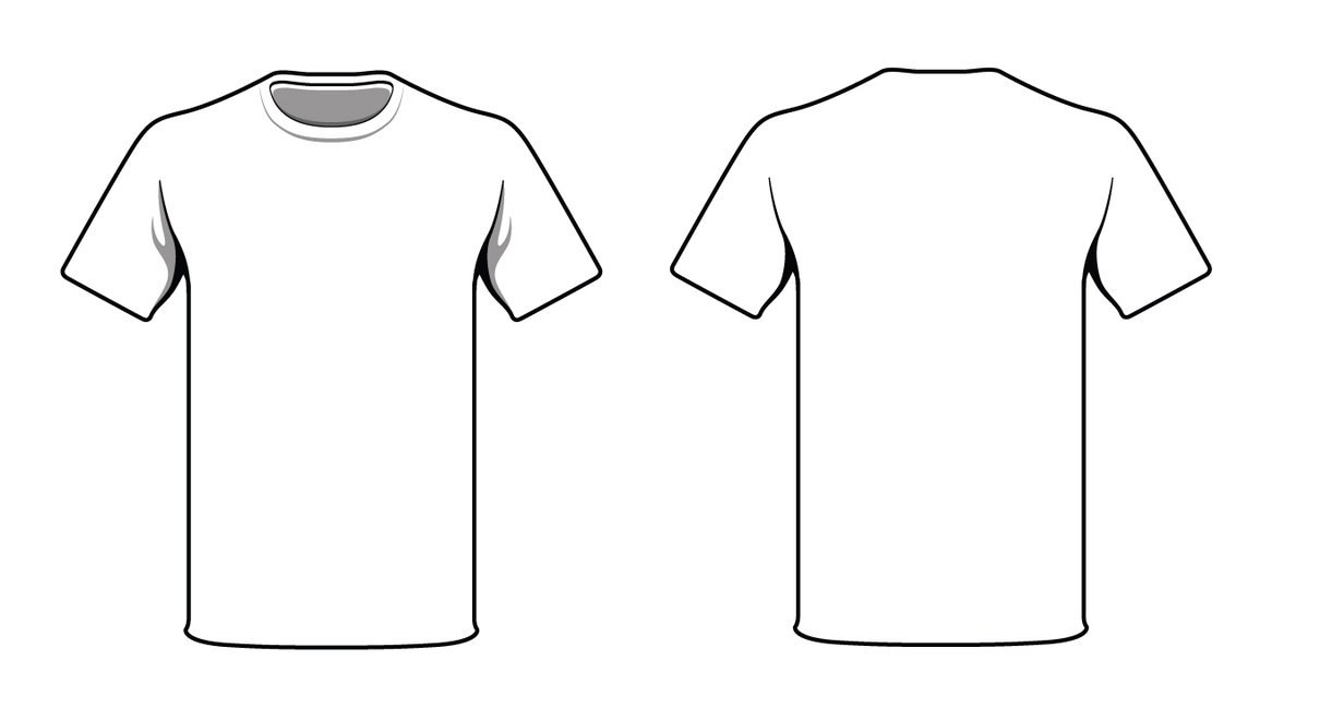 Blank T Shirt Outline  Free Download Best Blank T Shirt Outline On Regarding Blank T Shirt Design Template Psd