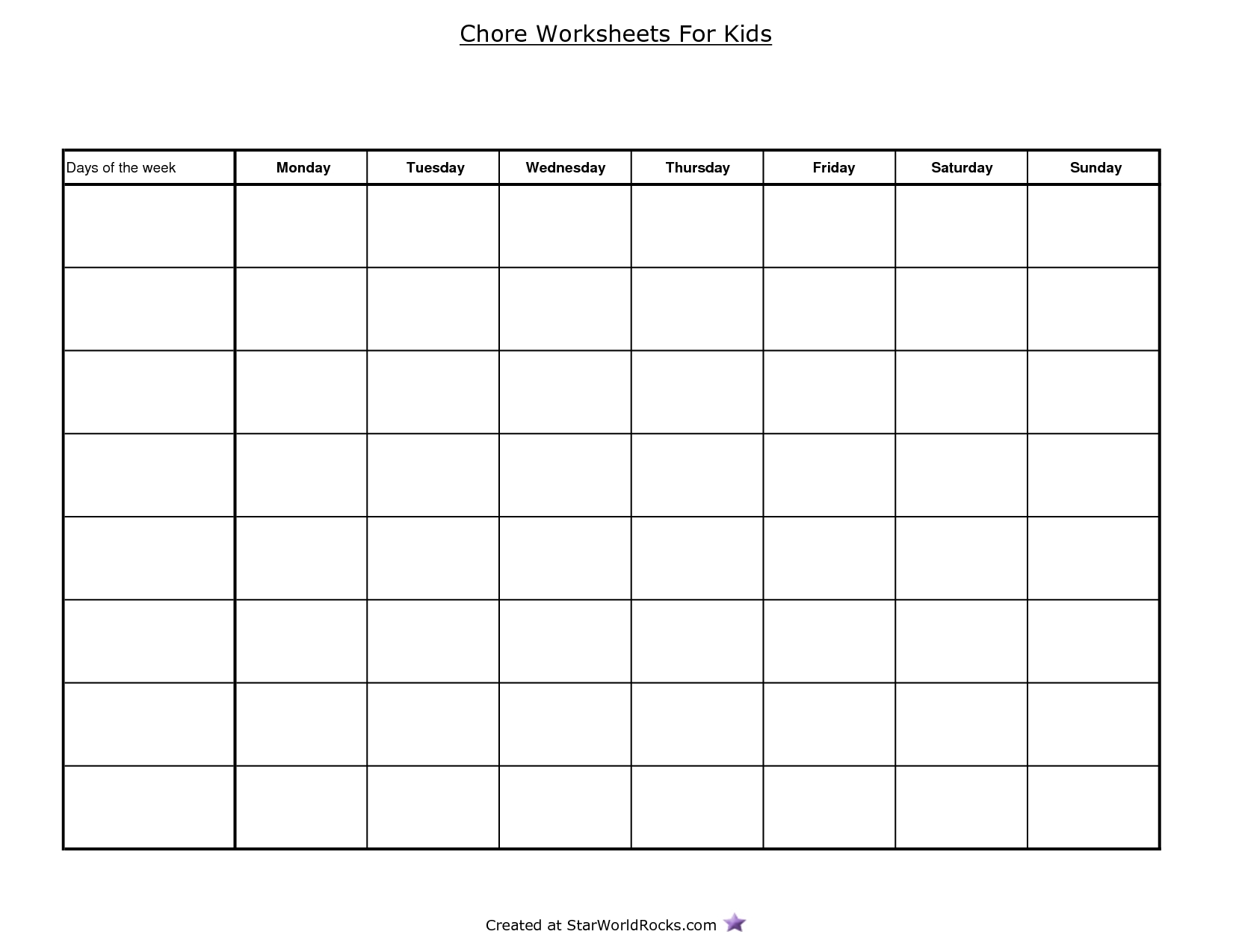 Blank Table Chart Template  Chart And Printable World With Menu Chart Template