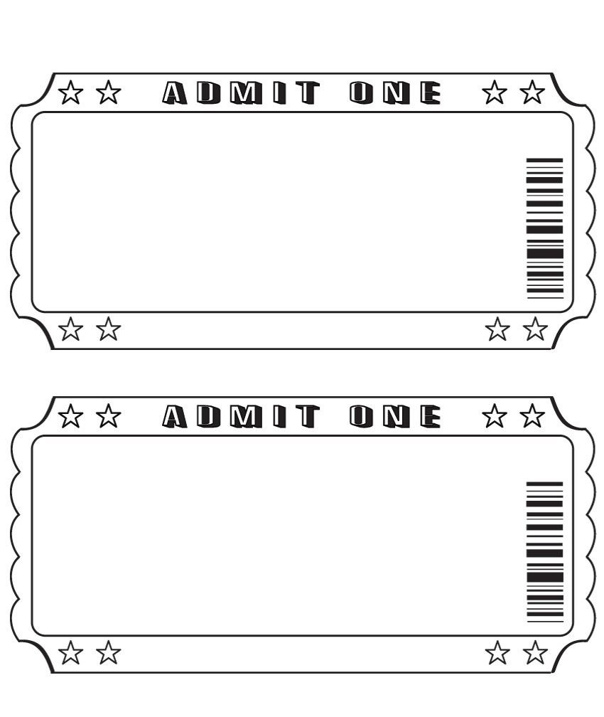 Blank Ticket …  Diy And Crafts  Ticke… Intended For Blank Admission Ticket Template