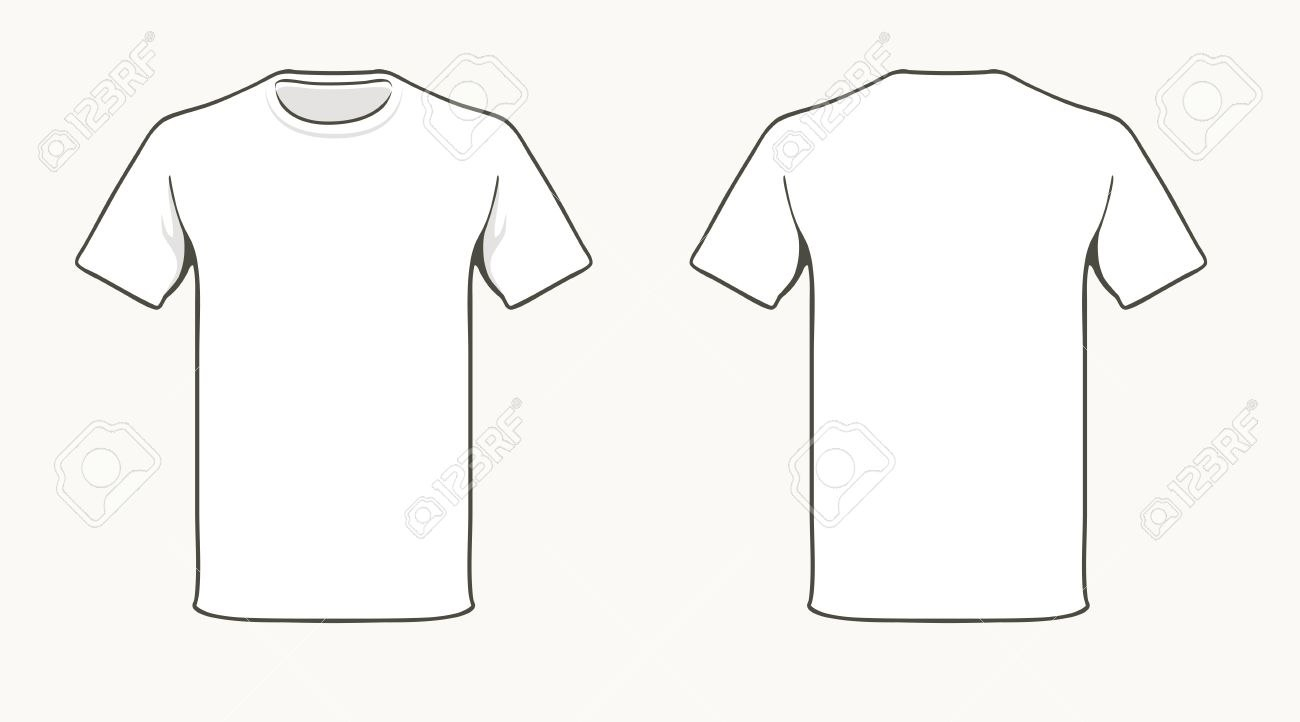 Blank Tshirt Template Royalty Free Cliparts Vectors And Stock Throughout Blank Tee Shirt Template