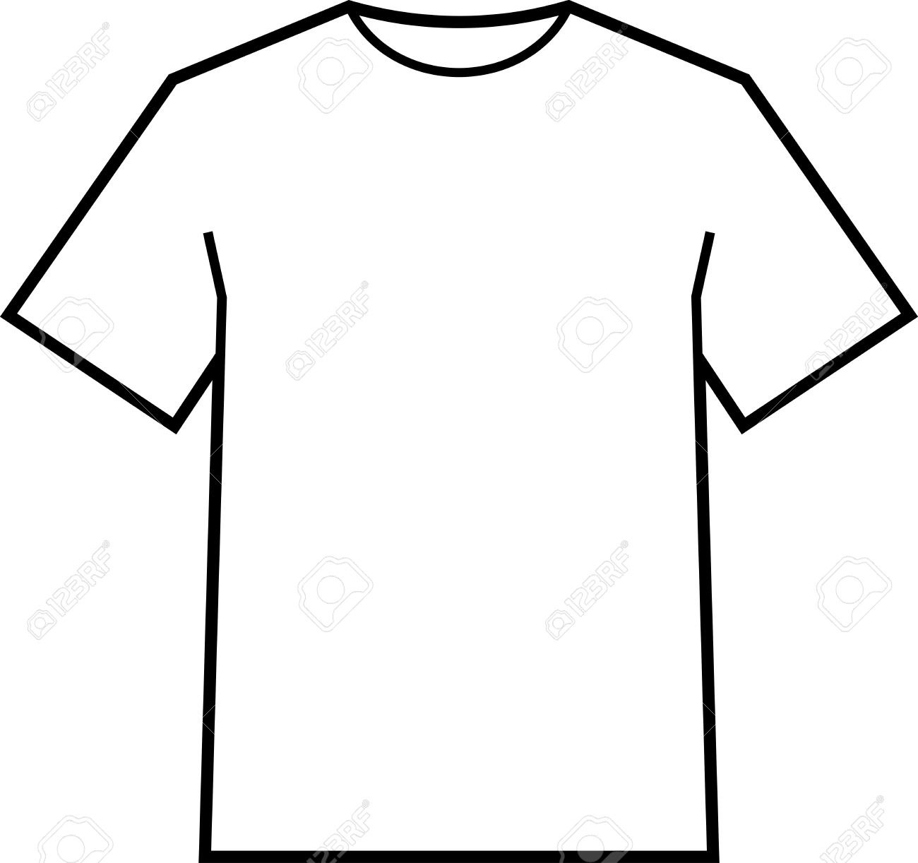 Blank Tshirt Template Vector Royalty Free Cliparts Vectors And Throughout Blank Tee Shirt Template