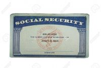 Blank Us Social Security Card Isolated On White Stock Photo Picture intended for Blank Social Security Card Template