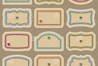 Blank Vintage Label Vector Images  Free Printable Blank Labels inside Decorative Label Templates Free