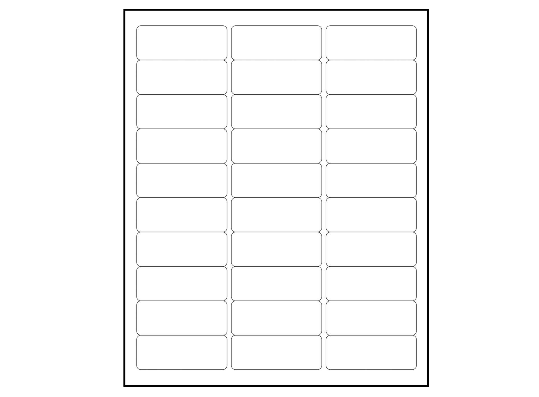 1 X 2 5 8 Label Template