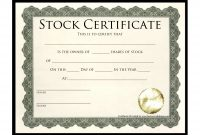 Blankmswordstockcertificatetemplatepdfs with Blank Share Certificate Template Free