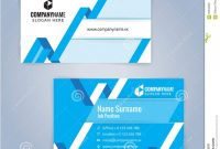 Blue And White Modern Creative And Clean Business Card Design pertaining to Modern Business Card Design Templates