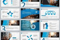 Blue Business Plan Powerpoint Template  Presentation inside Business Plan Powerpoint Template Free Download