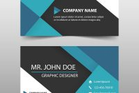Blue Corporate Business Card Name Card Template Vector Image pertaining to Email Business Card Templates