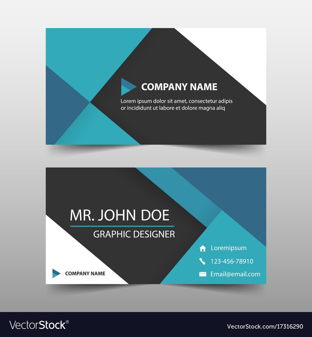 Blue Corporate Business Card Name Card Template Vector Image With Regard To Buisness Card Template