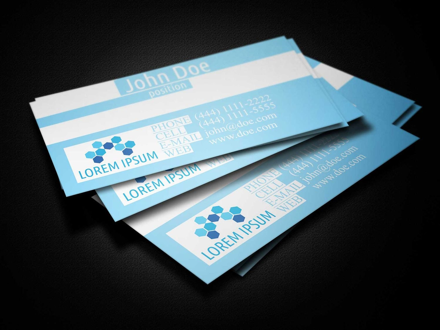 Blue Medical Business Card Template  Business Cards Lab Inside Medical Business Cards Templates Free