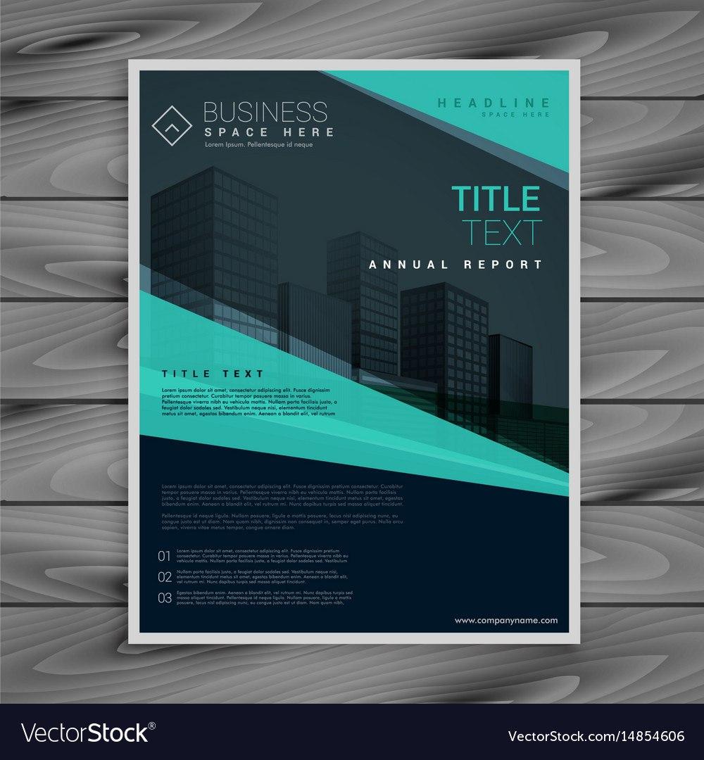 Blue Professional Brochure Design Template Vector Image With Regard To Professional Brochure Design Templates