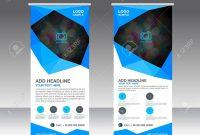Blue Roll Up Banner Stand Template Stand Designbanner Template with Banner Stand Design Templates
