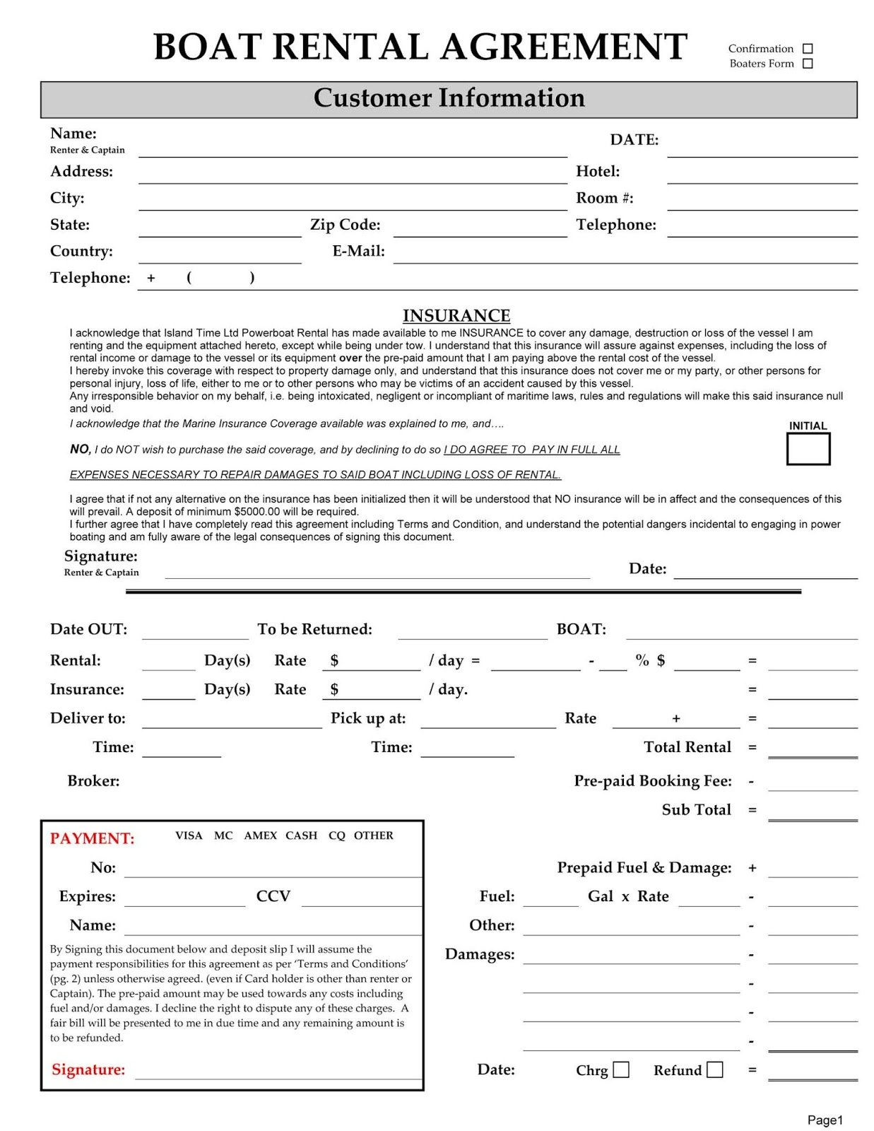Boat Charter Business Plan Template Excellent Templates Example In Yacht Charter Agreement Template