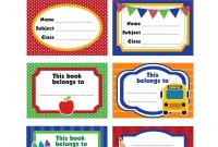 Book Label Stickers Templates  World Of Label within Notebook Label Template