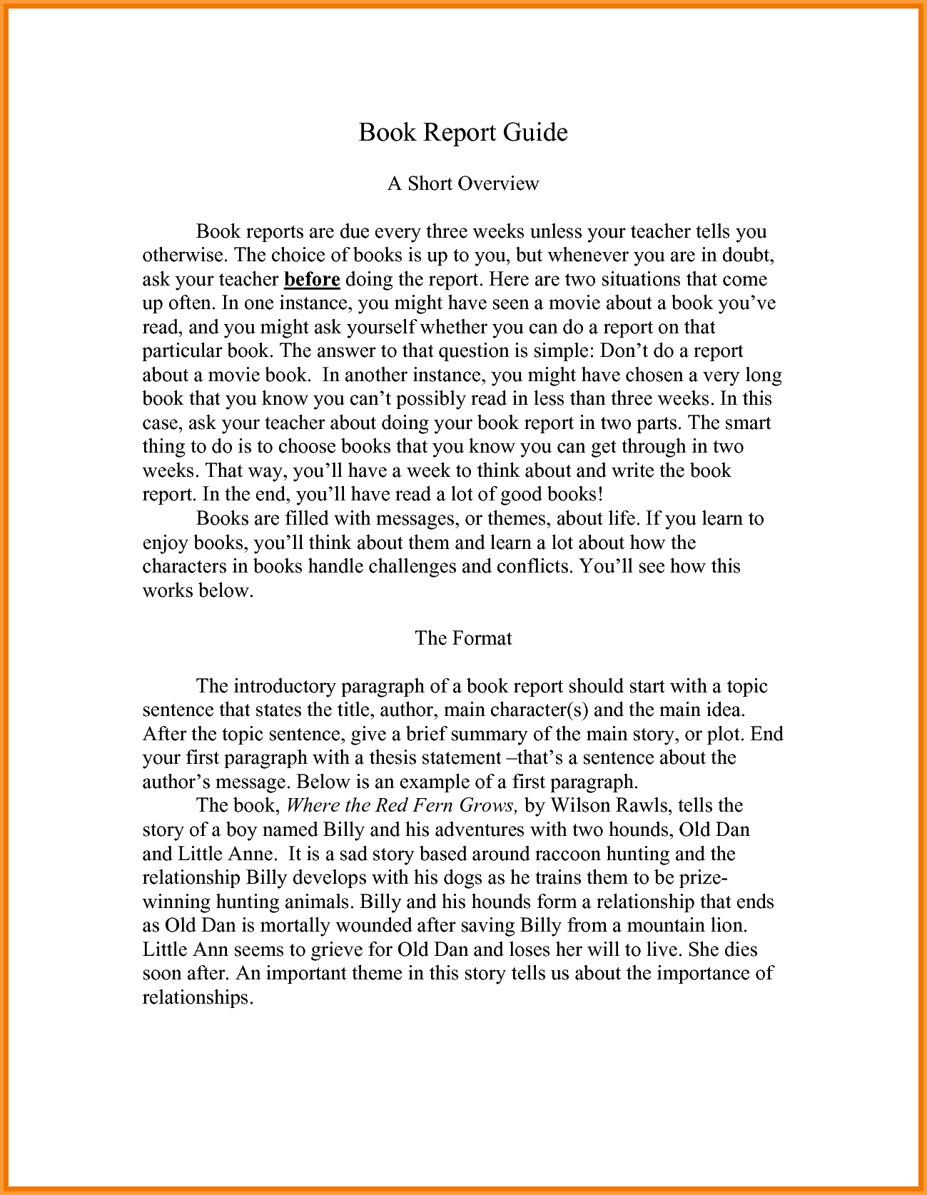 Book Report Format Sample  Types Of Letter Intended For College Book Report Template
