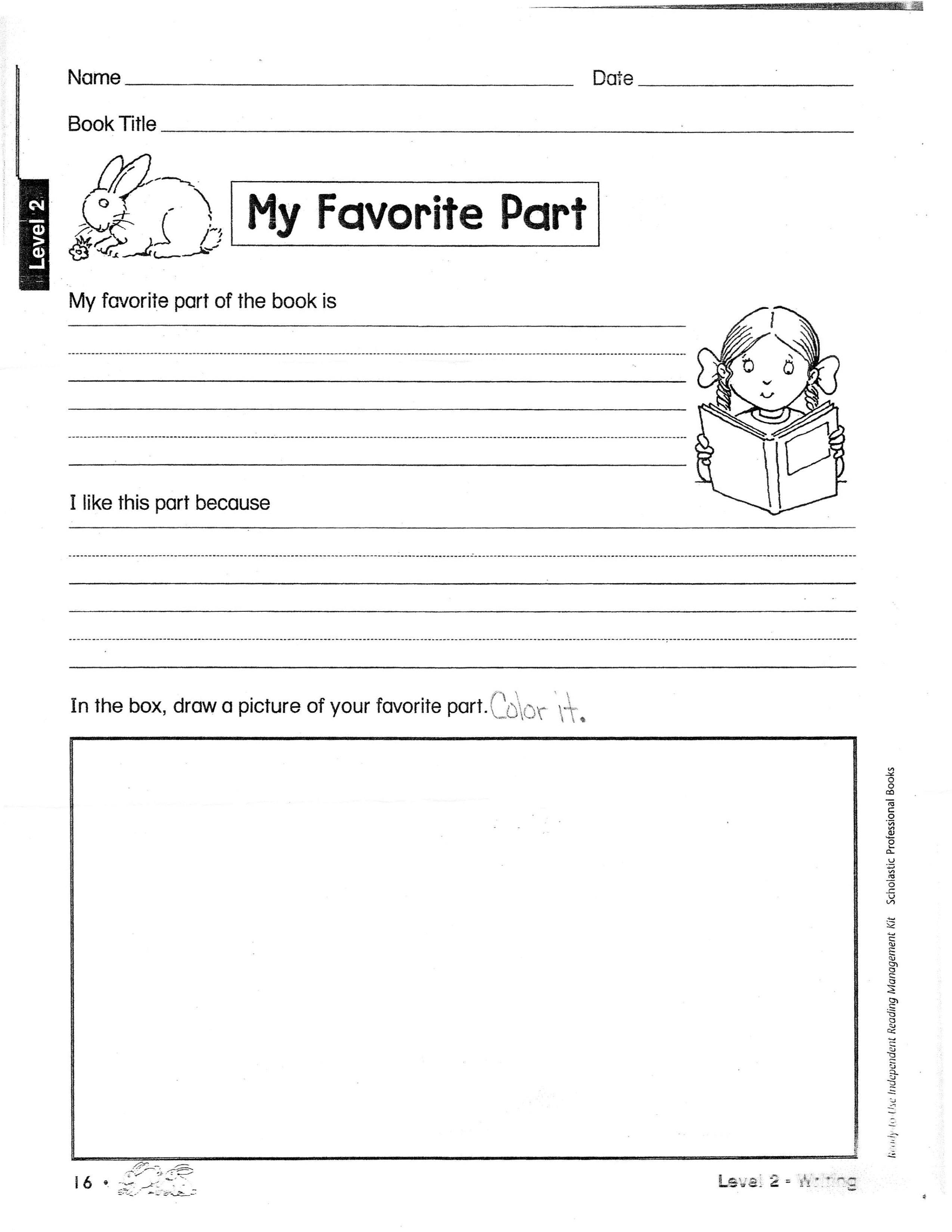 Book Report Outline  Second Grade Book Report Layout  Book Report In 2Nd Grade Book Report Template