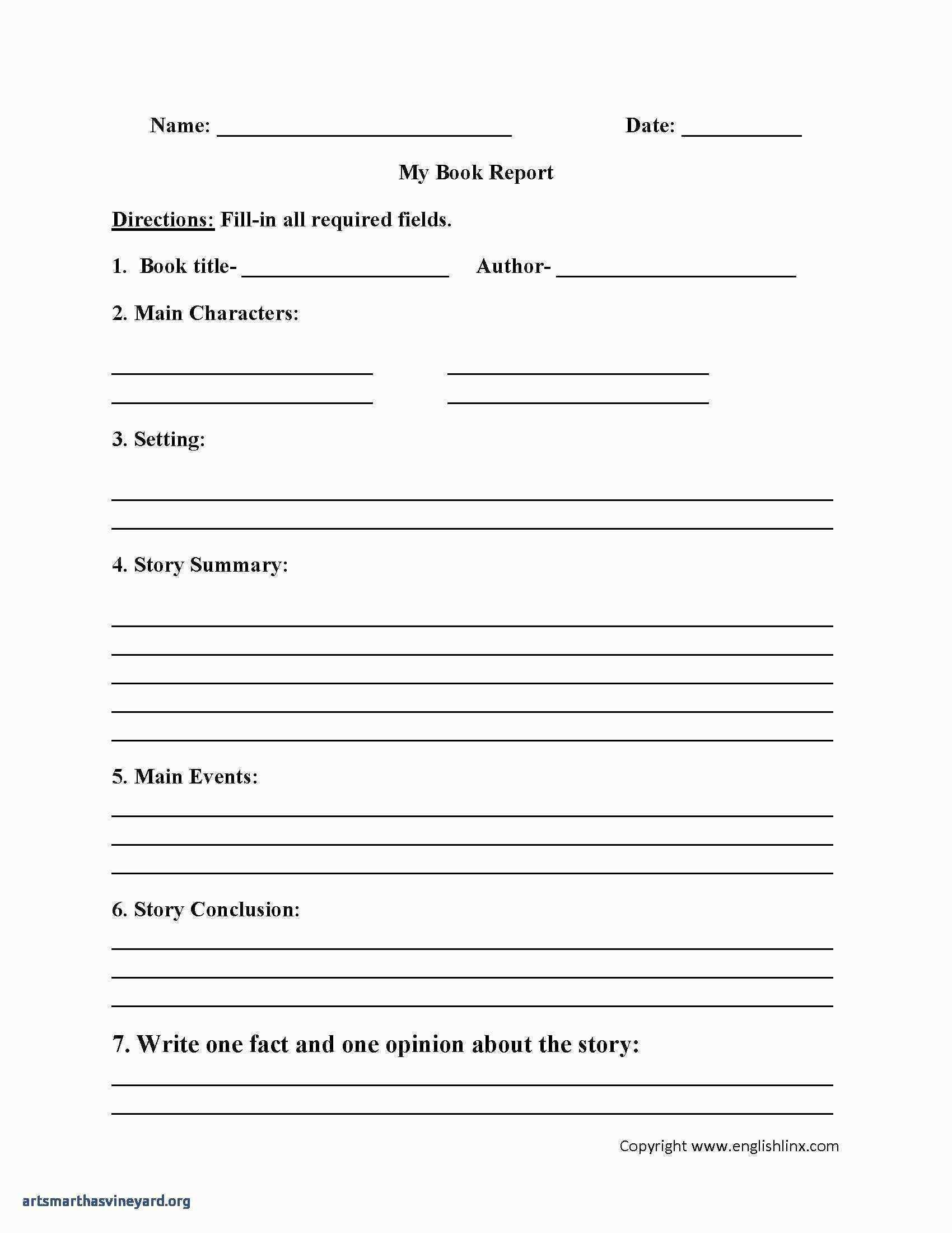 Book Report Template St Grade Sample Within 1St Grade Book Report Template