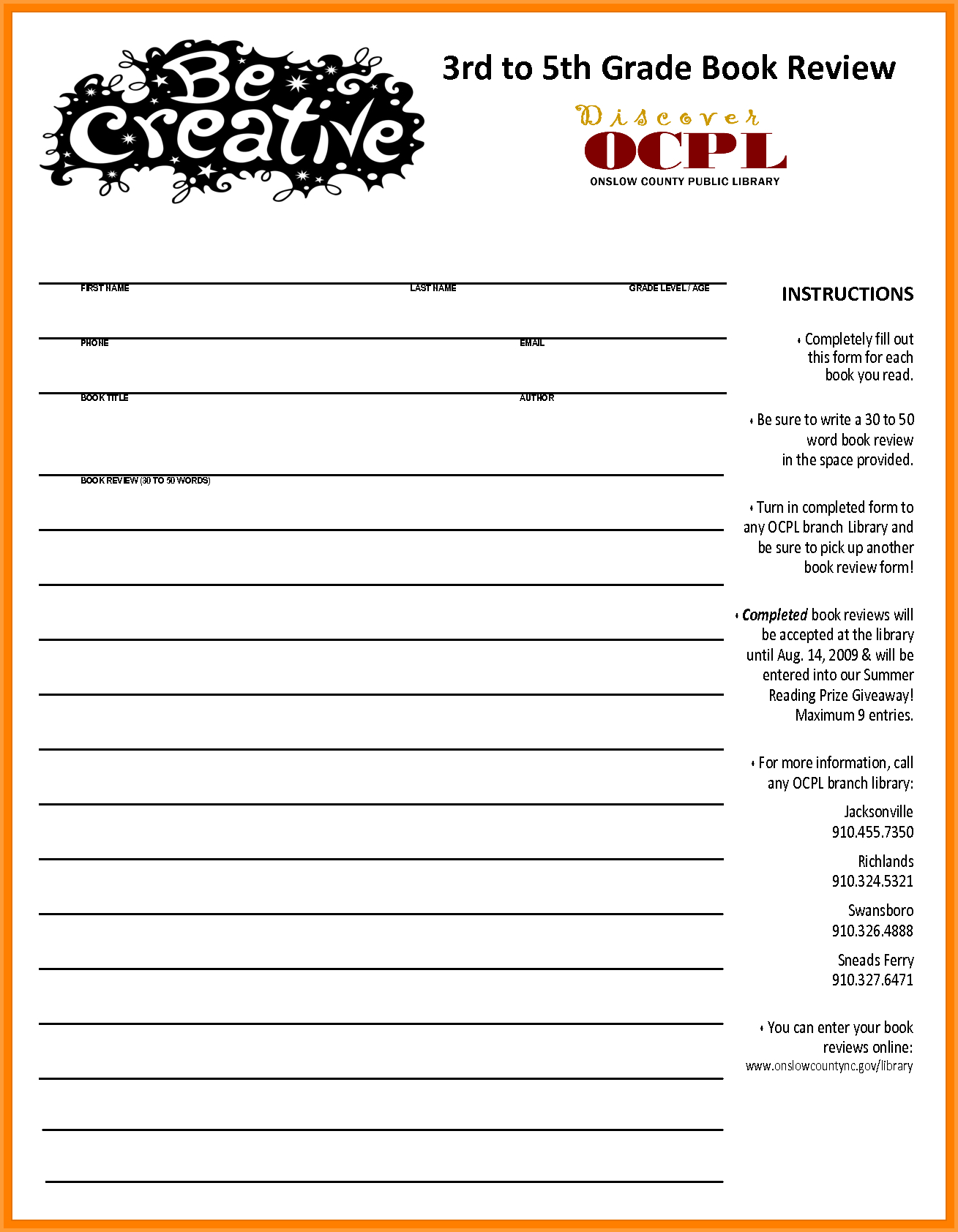 Book Report Template Th Grade  Types Of Letter With Regard To Book Report Template 5Th Grade