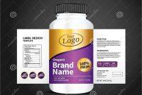 Bottle Label Package Template Design Label Design Mock Up Design in Template For Bottle Labels