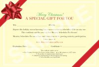 Bowsamplegiftcertificatetemplate with Present Certificate Templates