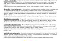 Brand Ambassador Job Description For Resume How To Leave  Grad Kaštela with Brand Ambassador Agreement Template