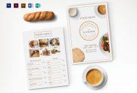 Breakfast Party Menu Design Template In Psd Illustrator Indesign for Breakfast Menu Template Word