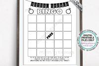 Bridal Shower Bingo Cards Bridal Shower Bingo Printable Blank with Blank Bridal Shower Bingo Template