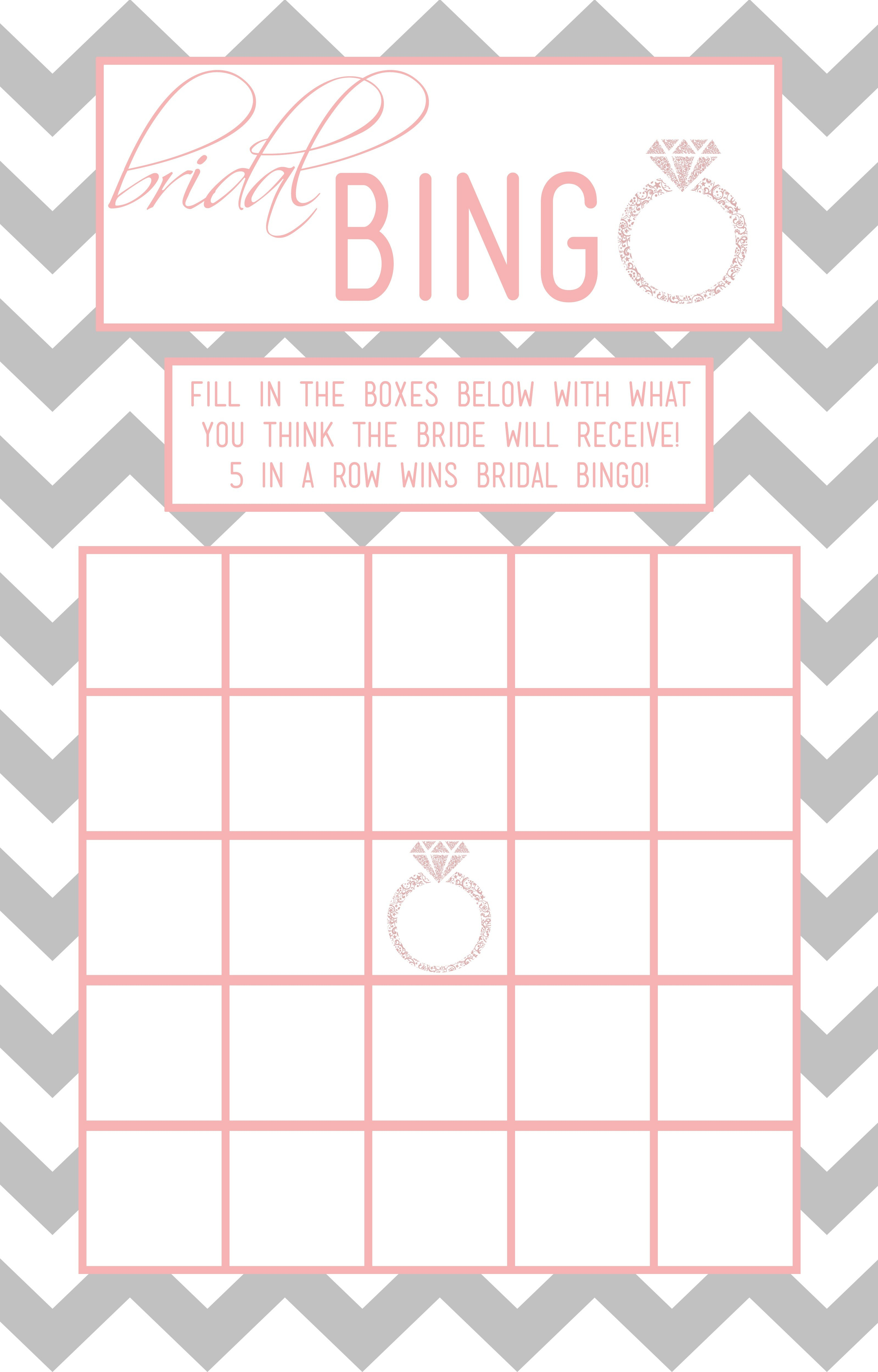 Bridal Shower Bingo Template  Madinbelgrade In Blank Bridal Shower Bingo Template