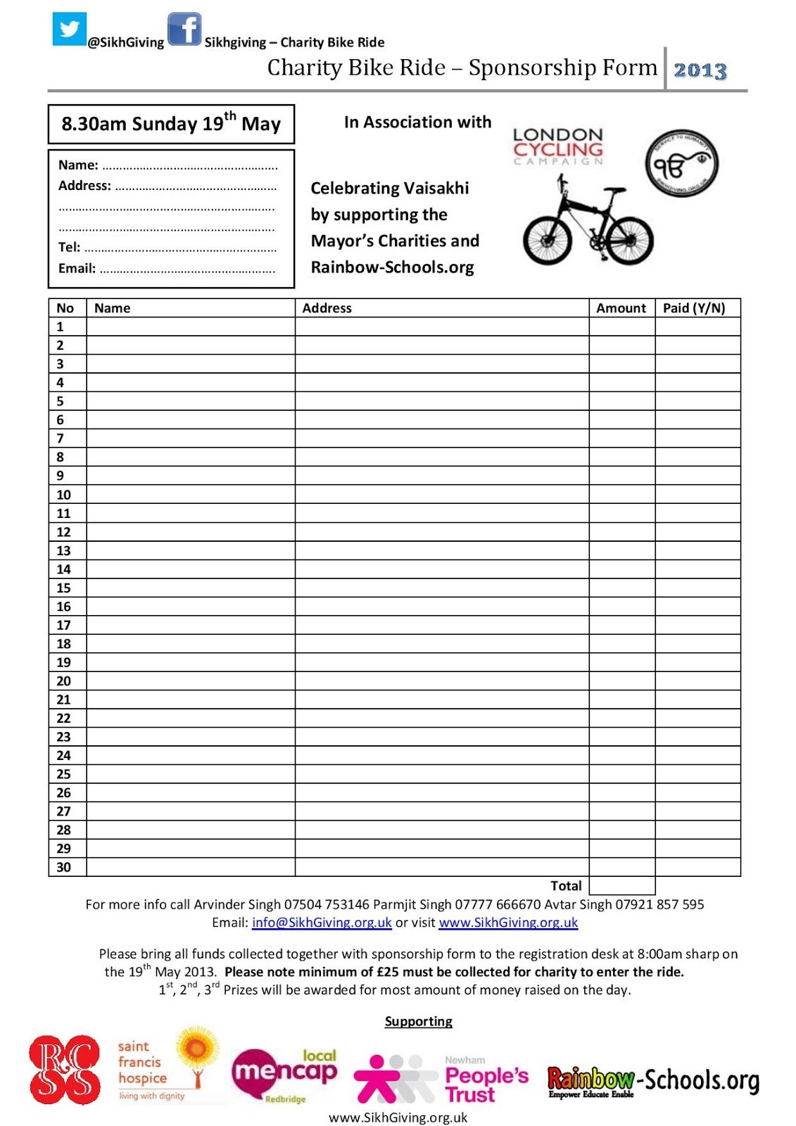 Brilliant Ideas For Charity Sponsorship Form Template About Sample Intended For Blank Sponsorship Form Template